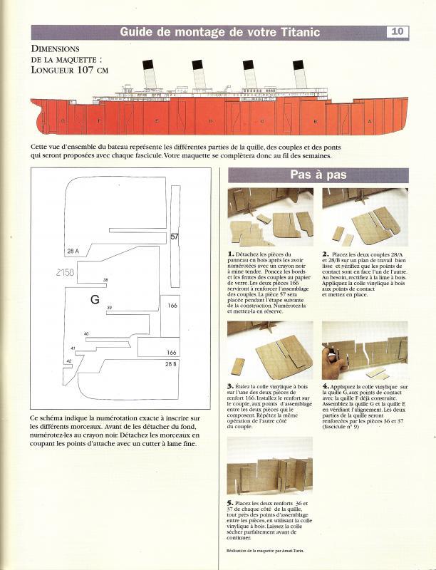 RMS Titanic 1/100  plans MRB 658070Fascicule10