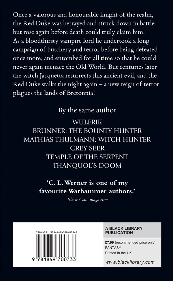 The Red Duke de CL Werner 659738RedDukeBackcover