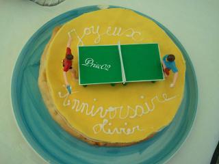 Tennis de table ou ping-pong 667780GateauPingtableetjoueurs
