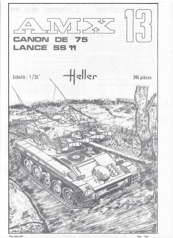 AMX 13 canon de 75 1/35ème Réf L 784 677510AMX1375784002Heller135