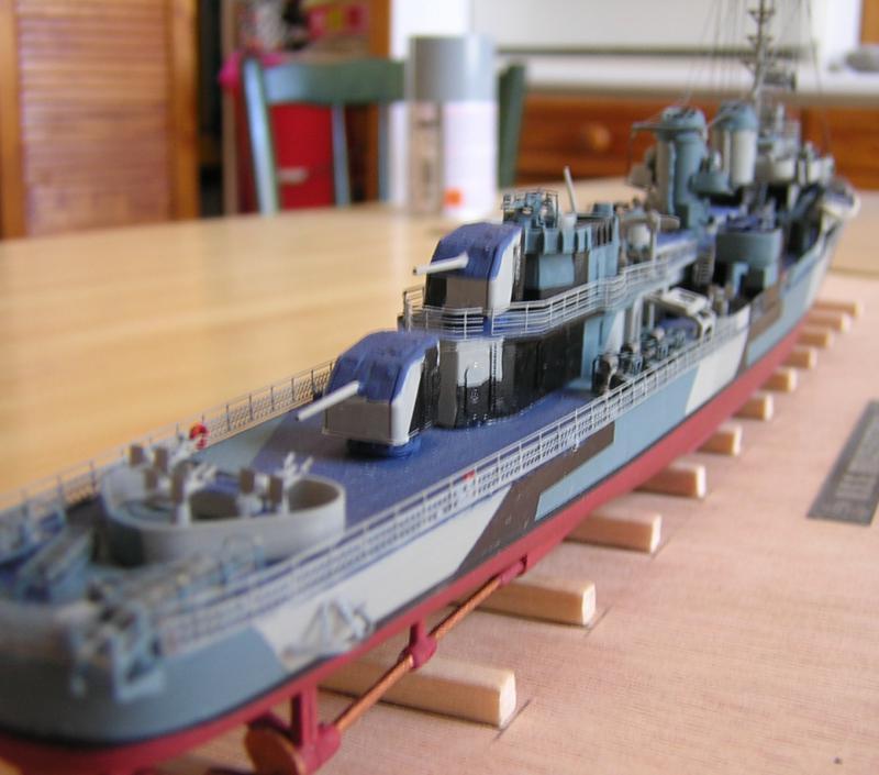 DD- 541 USS YARNELL 1/350, base Trumpeter 6862313