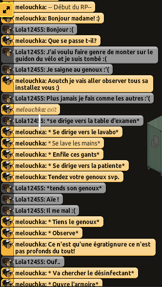 [C.H.U] Rapports d'actions RP de Melouchka 688674Hamdoulila1