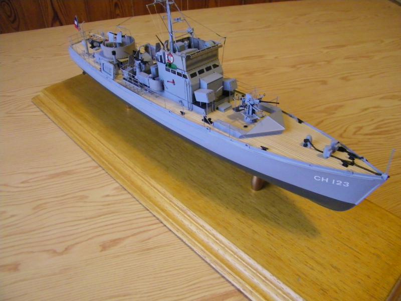 Chasseur de sous-marin CH 123 au 1/100e sur plan 6906591001756