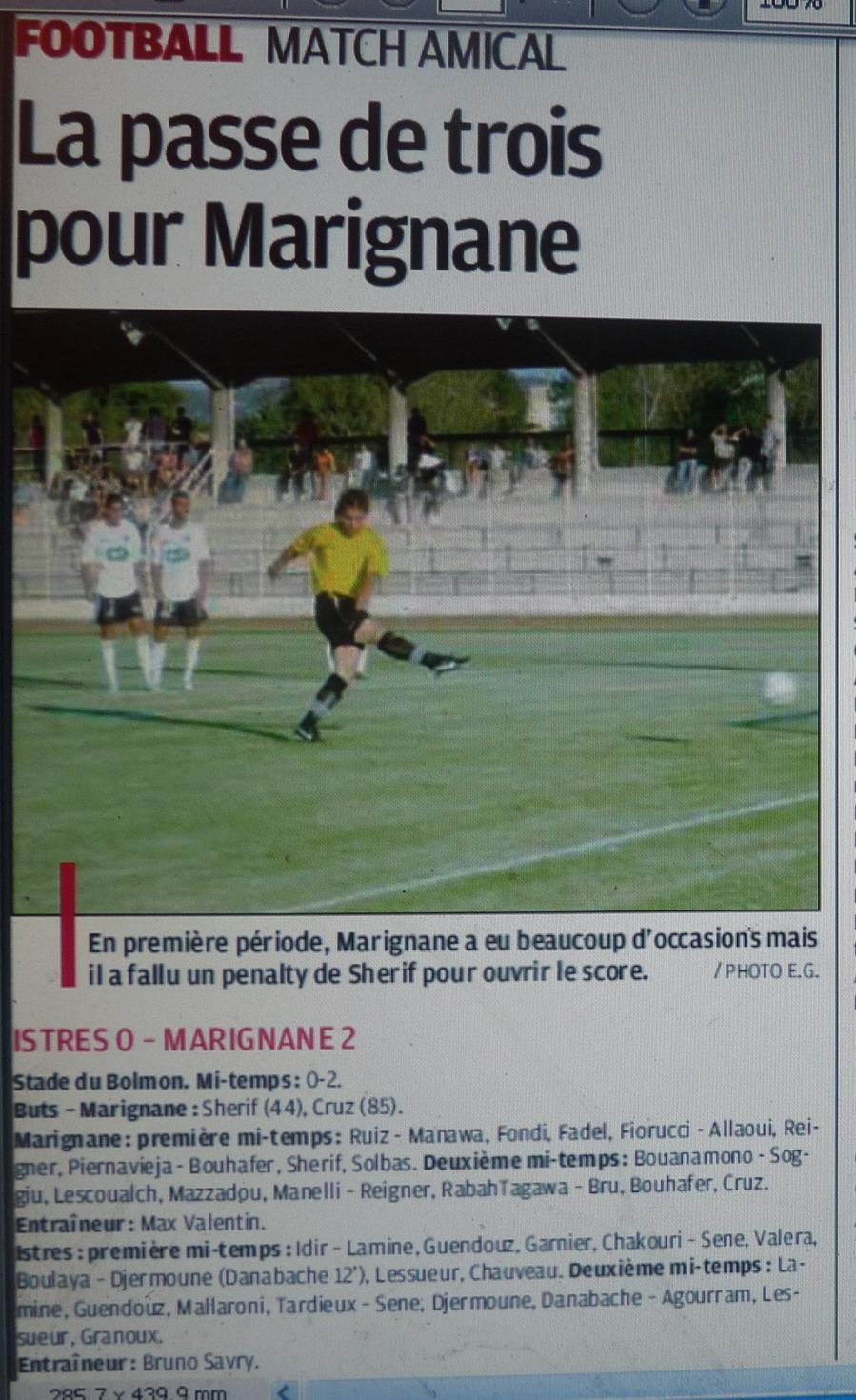 FC ISTRES B  // DHR  MEDITERRANEE  et AUTRES JEUNES  - Page 3 690665P1200904
