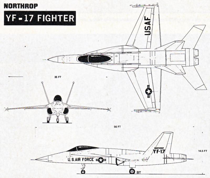 MCDONNELL-DOUGLAS F/A-18 HORNET  696881Northrop_YF_17_6