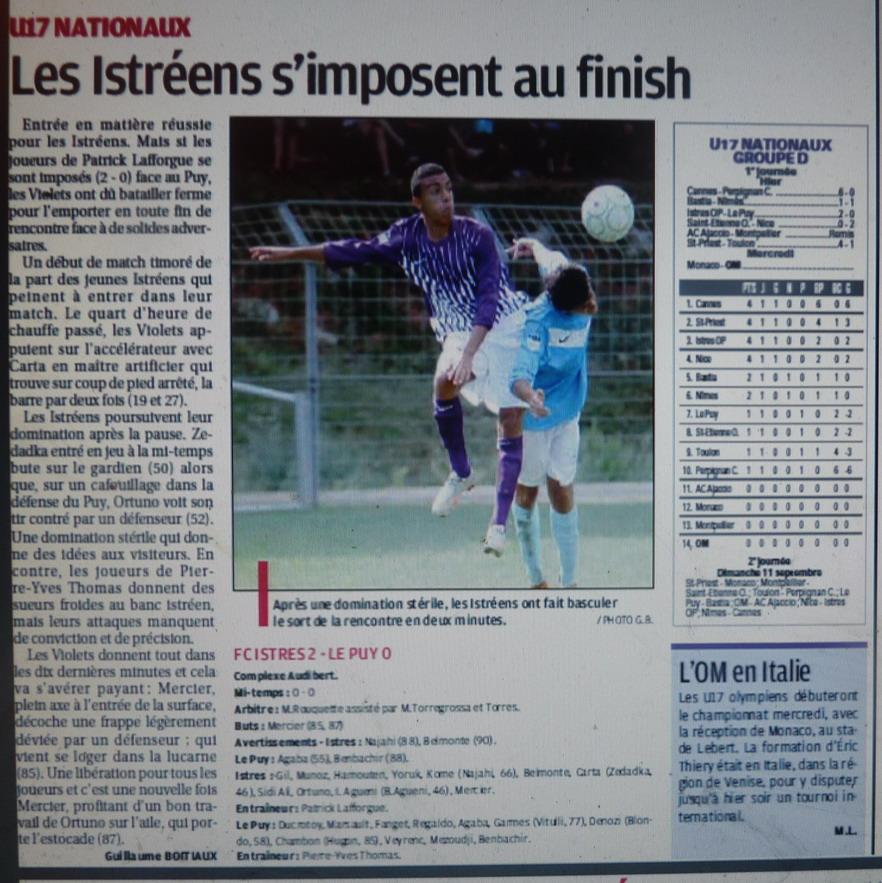 FC ISTRES B  // DHR  MEDITERRANEE  et AUTRES JEUNES  - Page 3 699634P1220104