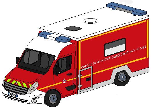 Pixel art véhicules de secours divers 701034RenaultMasterIIIVSAVCube