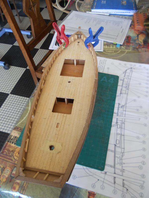 """Lougre """"Le Grand Lejon""""shistership de la """"Jeanned'Arc"""" au 1/35 AL - Page 6 703349DSCN4011"""