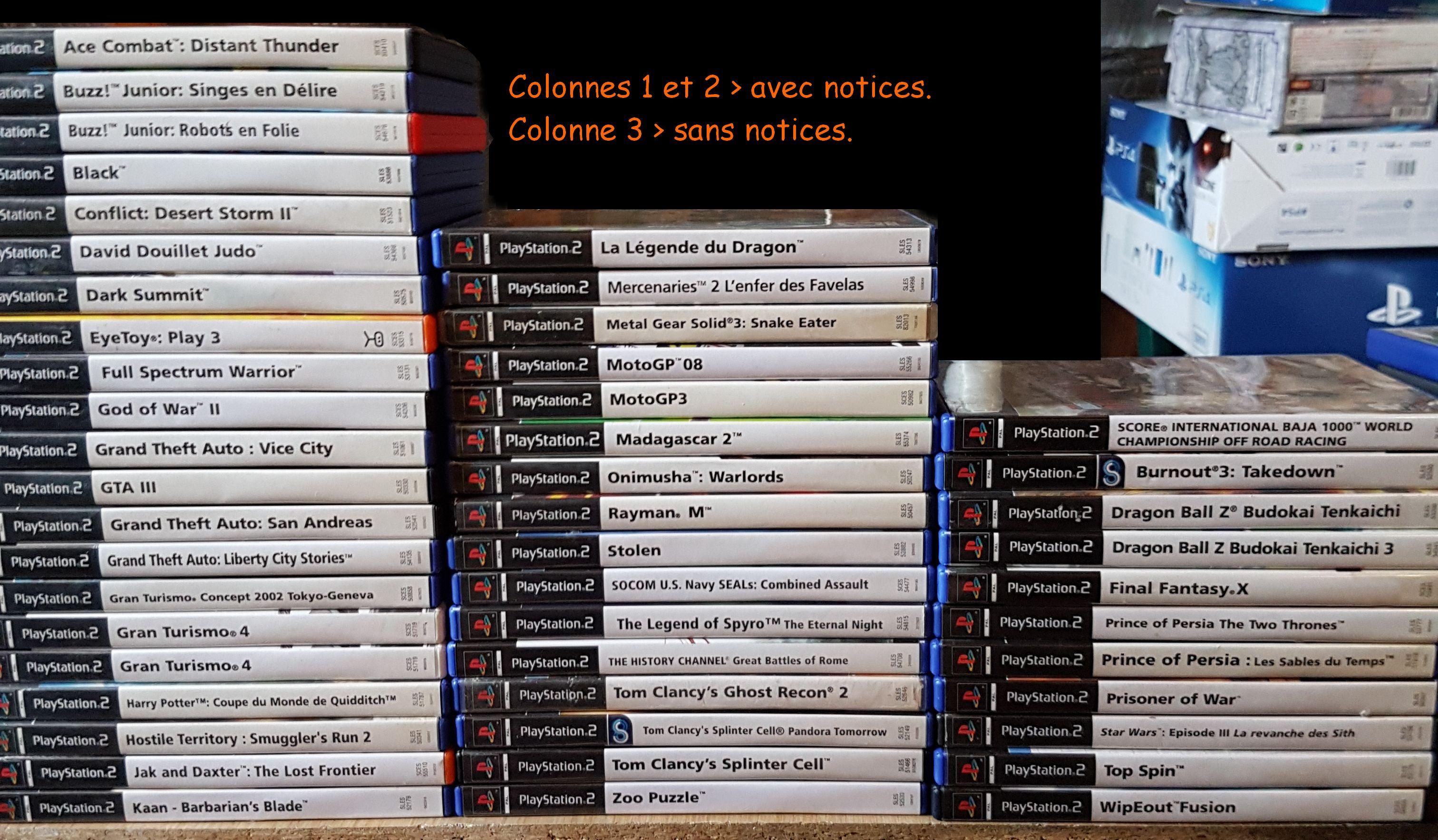 [RECH] mes recherches GameCube / PS1 / PS2 / PS3 - Videopac  - Page 3 703728JeuxPS2MB