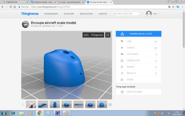 L'impression 3D: présentation du futur du maquettisme!  717292ThingiverseCapotErcoupe1937