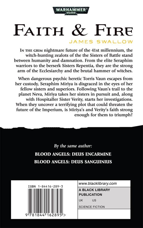 Faith and Fire / Hammer & Anvil de James Swallow 720446faithfireback