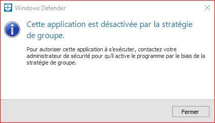 Windows Defender Désactivé 733072WindowsDefender