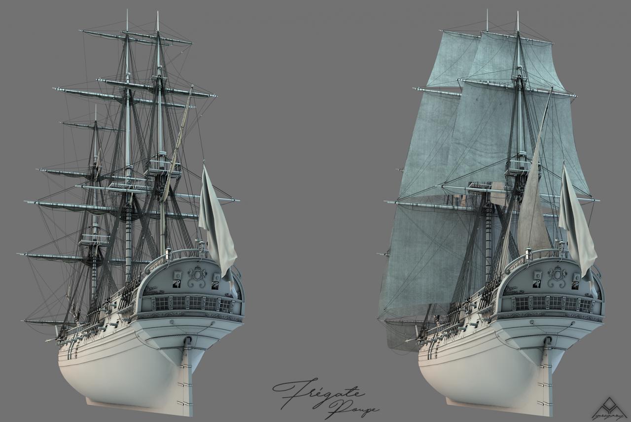 Frégate 3D de 36 canons - Page 3 740220FrgatelightroomR16voilespoupe
