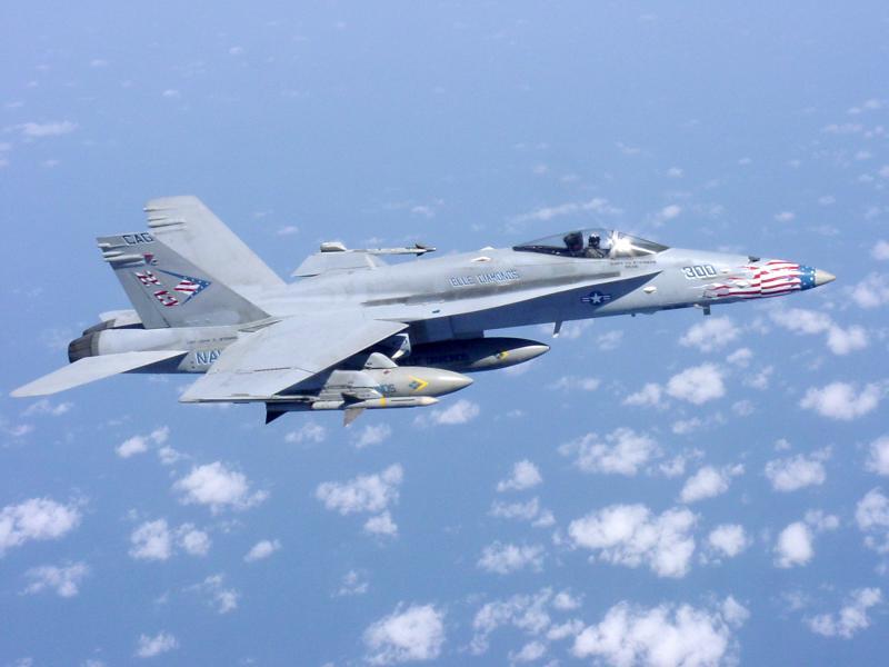 MCDONNELL-DOUGLAS F/A-18 HORNET  752666FA_18_NAVY_Blue_Diamond_Afghanistan_2002