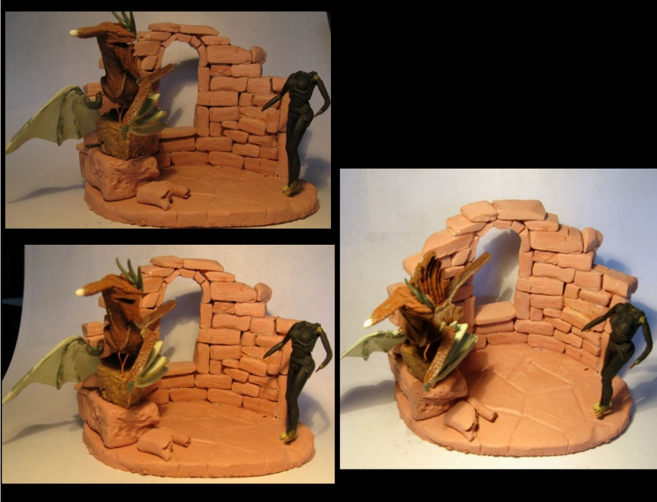 Dragon et Dragoniere (sculpture perso) 760337vbv133cjh45