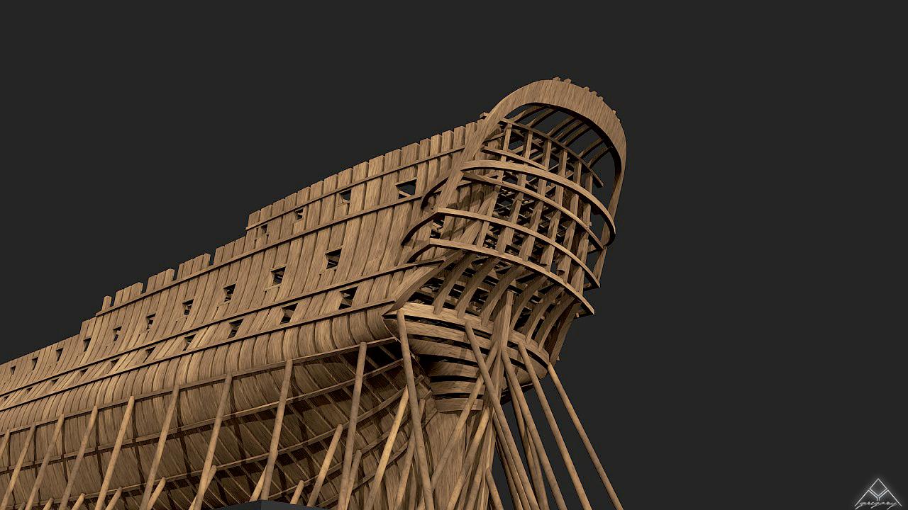 Vaisseau 74 canons Lucide (Création 3D) de Greg_3D - Page 5 773829Squelettetableauarrire
