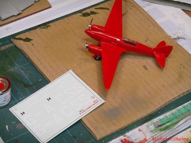 DE HAVILLAND D H88 kit Airfix 1959 775368DSCN9412Copier