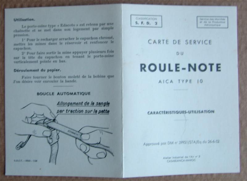 Roule-note AICA des Pilotes français 784314DSC00641