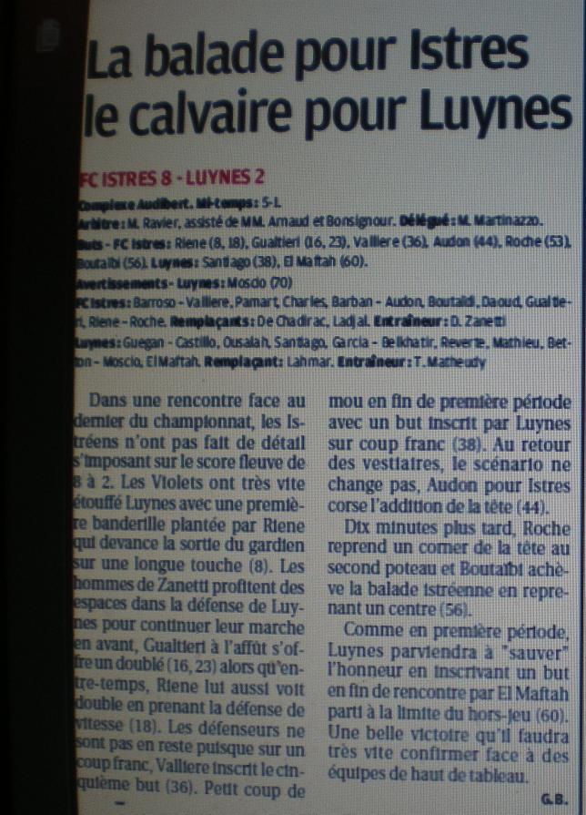 FC ISTRES B  // DHR  MEDITERRANEE  et AUTRES JEUNES  - Page 2 786372IMGP5531