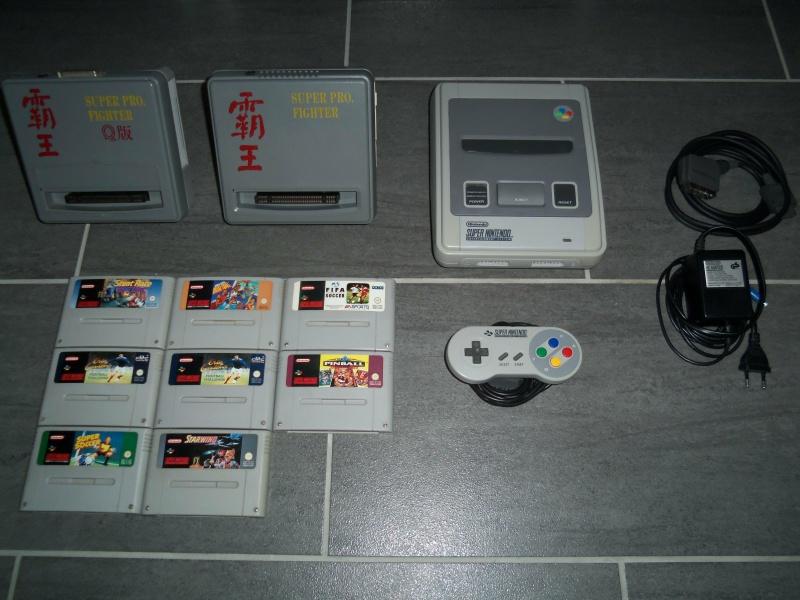 [EST] Super Nintendo + Jeux + Backup Unit Super Pro Fighter  7933151004006