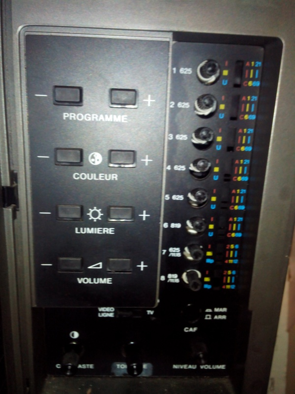 Mod composite Intellivision SECAM 805987potars