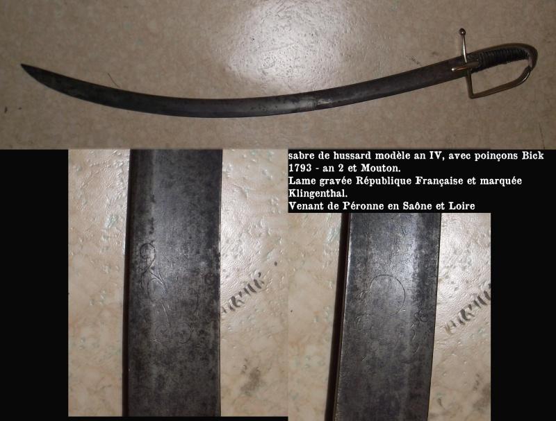 le sabre modèle an IV 815846an4Pronne