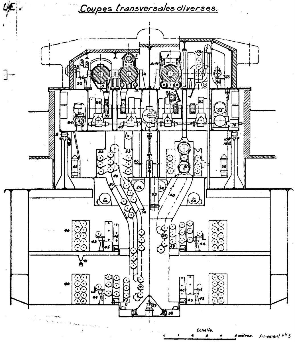 Cuirassé Richelieu 1943 (plans Polonais et Sarnet + Dumas 1/100°) - Page 3 81820933077Tour3802