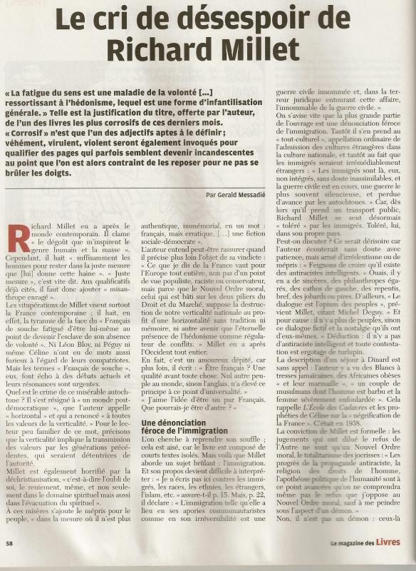 L'Enfer du Roman - Richard Millet 828960millet1