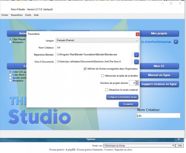 [Résolu] Question sur Sims 4 Studio qui cesse de fonctionner 837748S4Ssettings