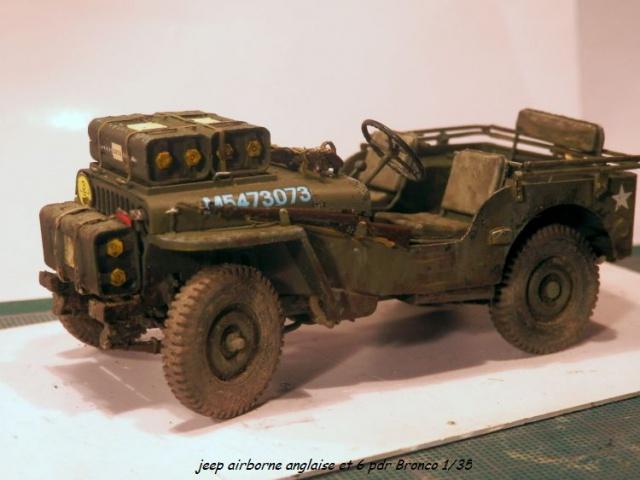 jeep indochine - 6 pdr ,jeep ,équipage airborne Bronco 1/35 (sur la route de Ouistreham) 840839P5060115