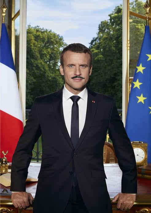 Macron 1er: la photo officielle 841883bourreau