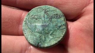 Dupondius de Nîmes avec drôle de contremarque ? 847970asdenimes