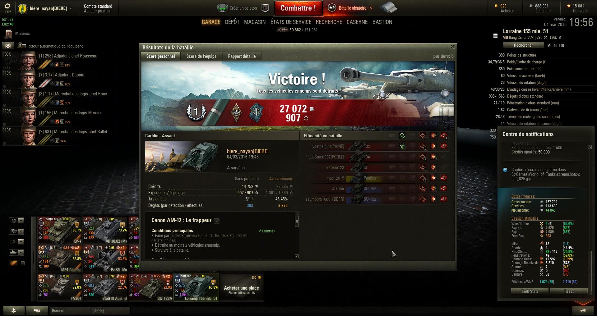 Screenshots et rapports de batailles - Page 2 853914shot026