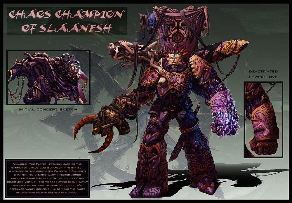 [W40K] Illustrations du Chaos - Page 4 857261ChaosChampionofSlaaneshbyjubjubjedi