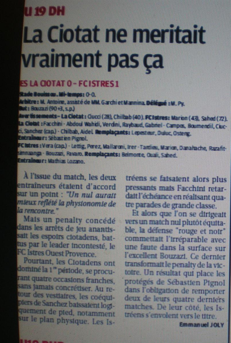 FC ISTRES B  // DHR  MEDITERRANEE  et AUTRES JEUNES  - Page 2 860387IMGP6156
