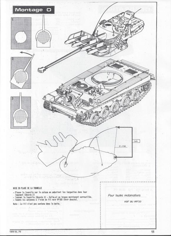 AMX 13 canon de 75 1/35ème Réf L 784 865263AMX1375784012Heller135