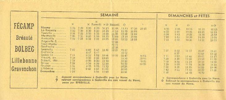Fécamp - Cars Arcangioli  873224Autocarsgrishoraire19682