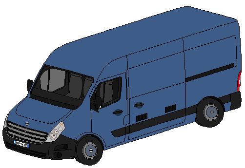 Pixel art véhicules de secours divers 873850RenaultMasterIII