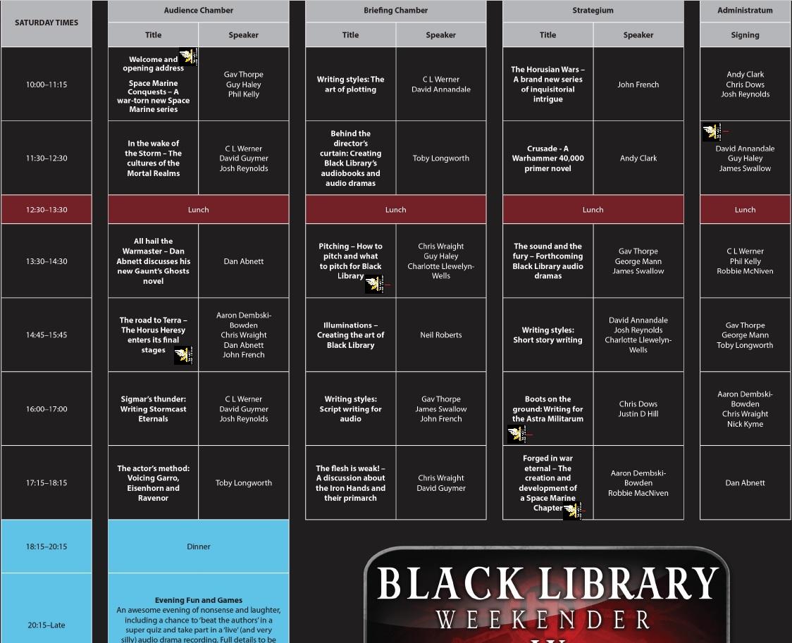 [Black Library Weekender 2017] Préparation, questions et autre 8765376012