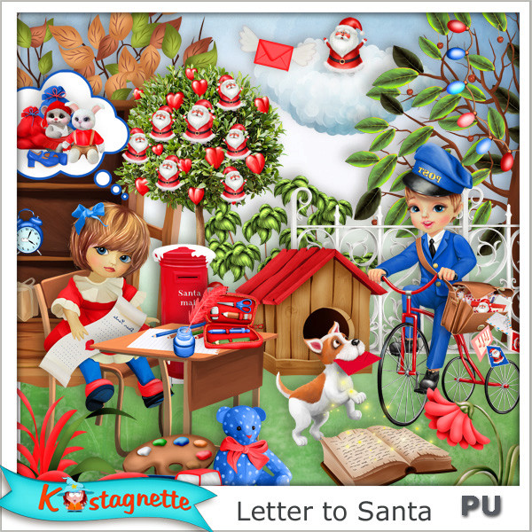 Collection Letter to Santa de Kastagnette + Mega Kit Freebie 889913481