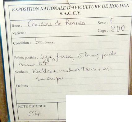 exposition d'aviculture Foire ST MATTHIEU 27 et 28 Septembre 2014 - Page 3 905583P1150767