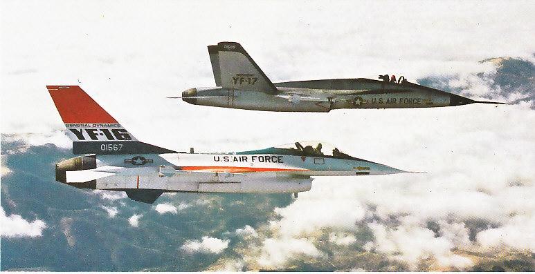 MCDONNELL-DOUGLAS F/A-18 HORNET  907424Northrop_YF_17___YF_16