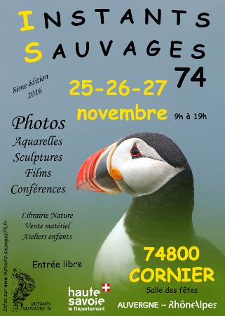 """8ème éditions des """"Instants sauvages"""" en Haute-Savoie 933502affiche2016cornier"""