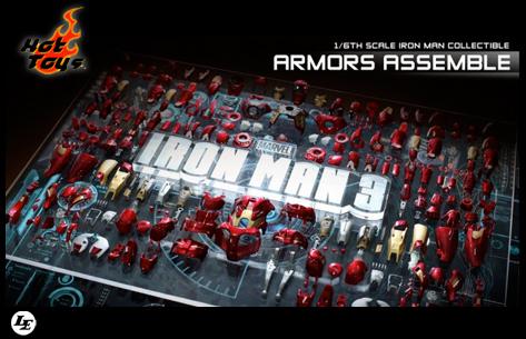[Hot Toys] Iron Man 3 - Armors Assemble - 1/6 scale 934402armors