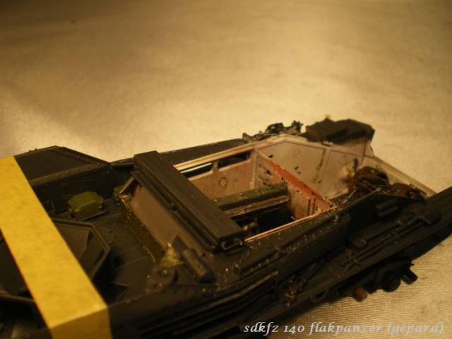 sd.kfz 140 flakpanzer (gépard) maquette Tristar 1/35 935315IMGP3082