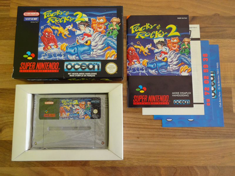 Prupru's Collection ! 100% Super Nintendo et 200% Super Comboy !! - Page 18 952564PockyRocky2FAH