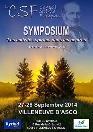 Symposium spirite Septembre 2014 à Villeneuve d'Ascq (+) Compte rendu de l'IFRES. 953610symposium2014