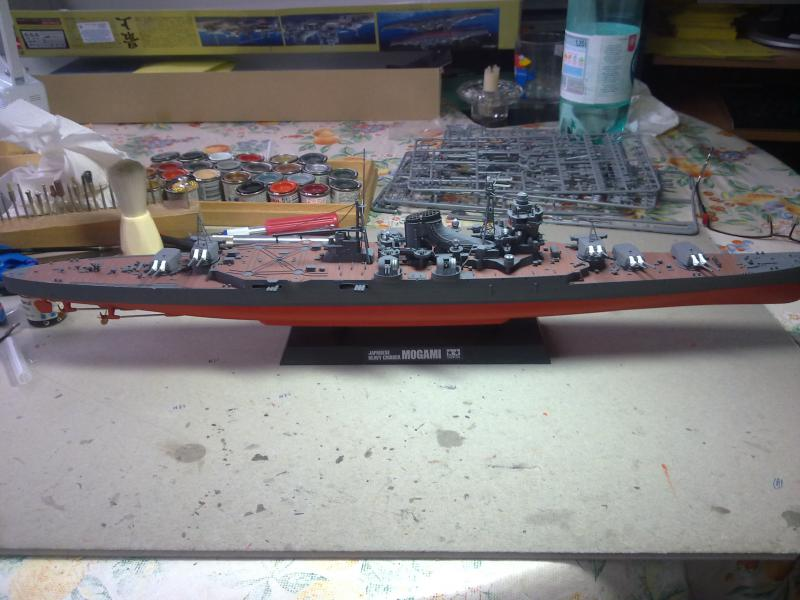 croiseur lourd Mogami au 1/350 par Pascal 94 - Tamiya  - Page 4 973836vuedensembletourelles203jpg