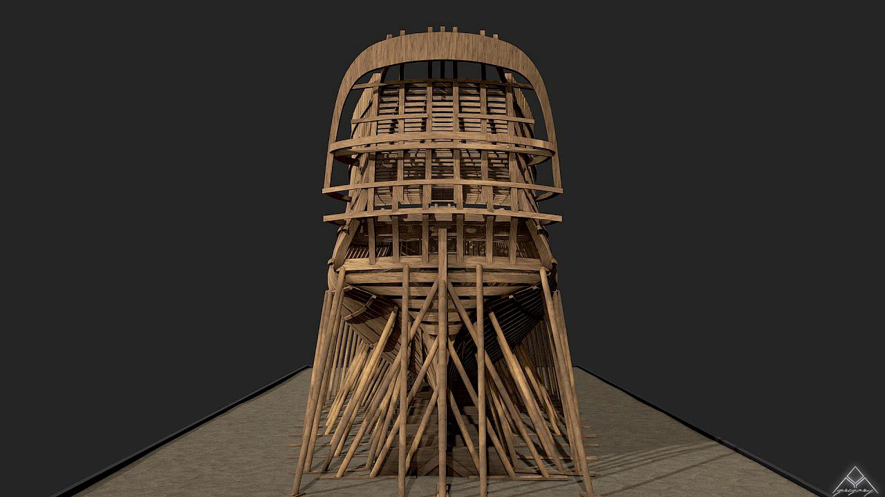 Vaisseau 74 canons Lucide (Création 3D) de Greg_3D - Page 5 975273Squelettetableauarrire2