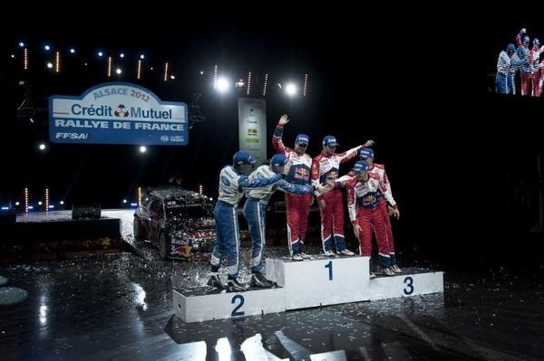 WRC Rallye de France Alsace 2012 : Loeb s'offre son 9ème titre  978730MikkaAnttilaJariMattiLatvalaDanielElenaSbastienLoebMikkoHirvonenJarmoLehtinen